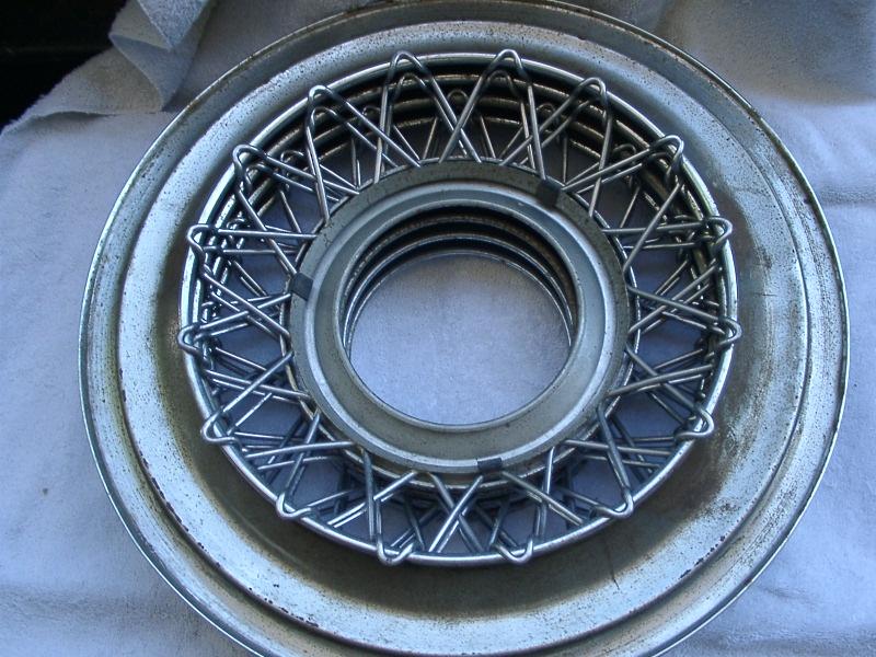 1955 1956 Thunderbird 5 Wire Wheel Hub Caps Need Work Inexpensive ...